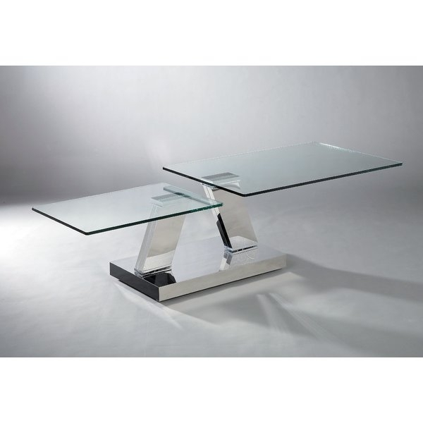 Glass Motion Coffee Table | Wayfair Pertaining To Autumn Cocktail Tables With Casters (Image 14 of 40)