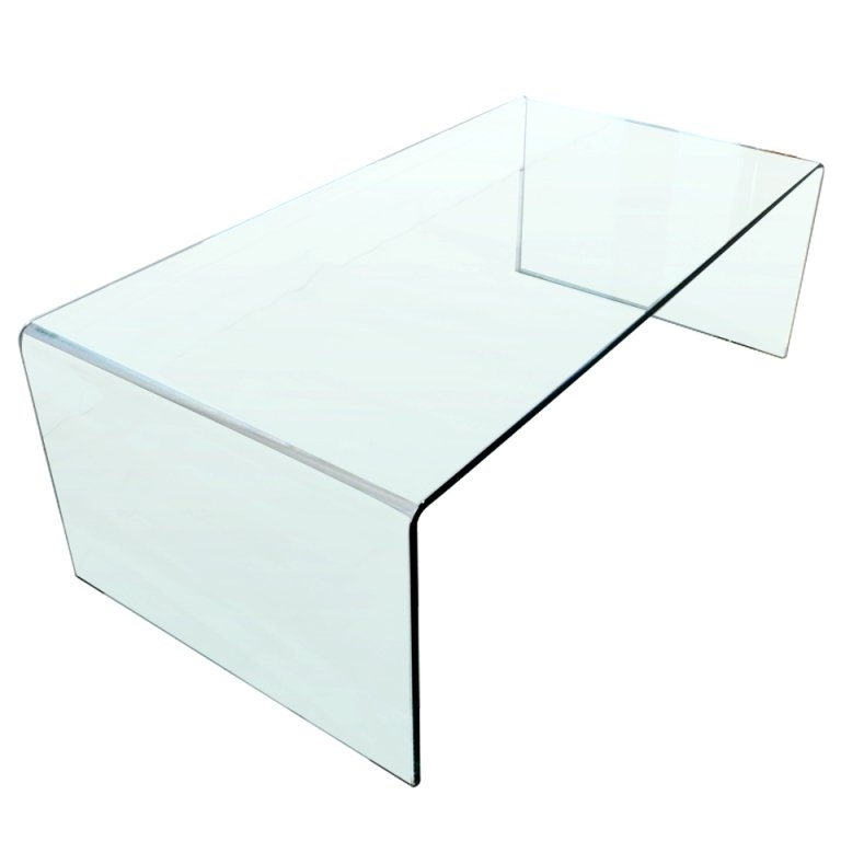 Glass Waterfall Coffee/cocktail Table At 1Stdibs With Regard To Square Waterfall Coffee Tables (Photo 14 of 40)