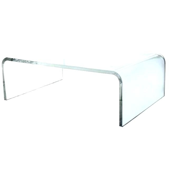 Glass Waterfall Coffee Table Fascinating Glass Waterfall Coffee In Square Waterfall Coffee Tables (Image 17 of 40)