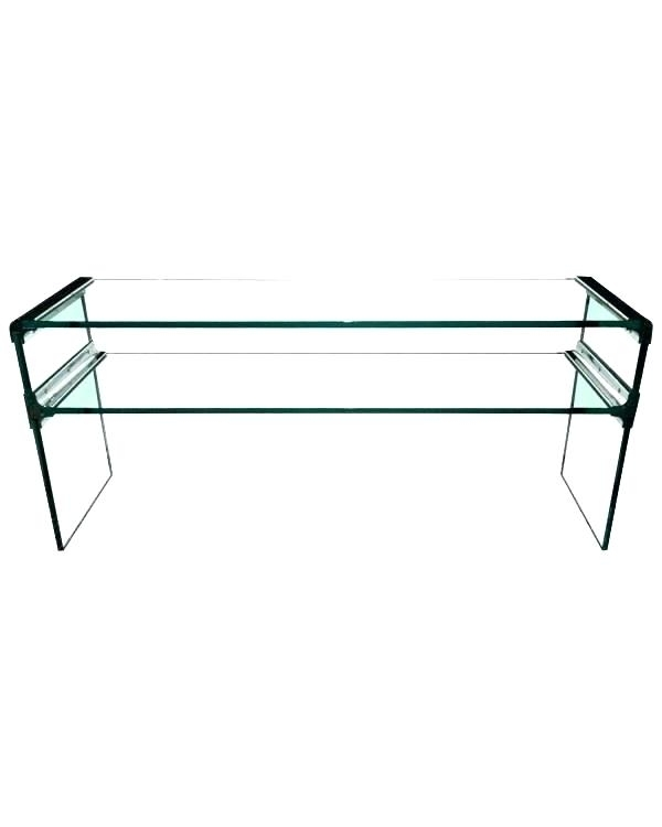 Glass Waterfall Coffee Table Perfect Glass Waterfall Coffee Table Within Square Waterfall Coffee Tables (Photo 35 of 40)