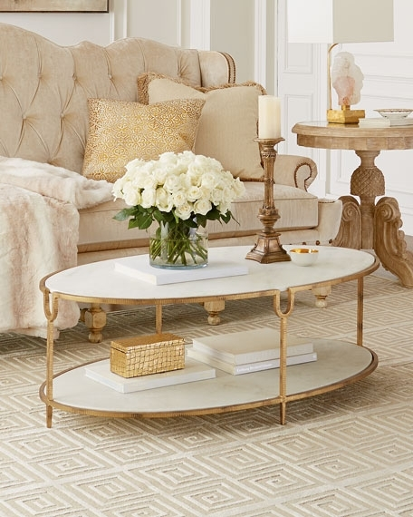 Global Views Olivia Marble Top Coffee Table In Marble Coffee Tables (Image 14 of 40)