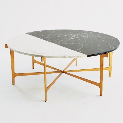 Global Views | Products | Maxwell Cocktail Table Gold Leaf Pertaining To Gold Leaf Collection Coffee Tables (Image 12 of 40)