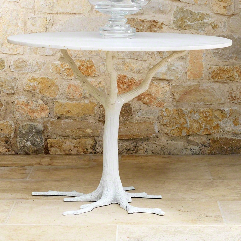 Global Views | Products | White Faux Bois Dining Table With Faux Bois Coffee Tables (View 25 of 40)