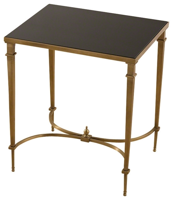 Global Views Rectangular French Square Leg Table – Transitional Intended For Rectangular Coffee Tables With Brass Legs (View 29 of 40)