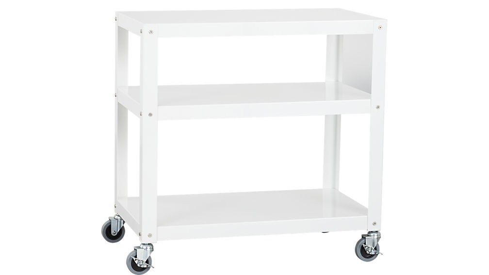 "Go Cart White 30""x18"" Rolling Cart + Reviews 