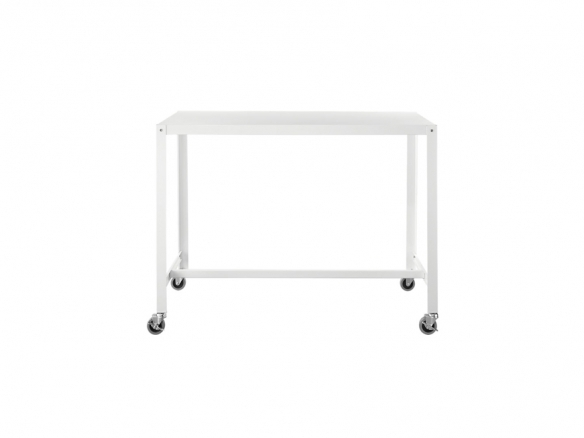 Go Cart White Rolling Counter Table Stand Up Desk In Go Cart White Rolling Coffee Tables (View 4 of 40)