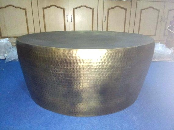 Gold Hammered Coffee Table Image 0 Cuff Hammered Gold Coffee Table Within Cuff Hammered Gold Coffee Tables (Photo 5 of 40)