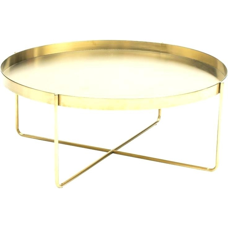 Gold Hammered Coffee Table Set Of Two Hammered Brass Glass Coffee In Cuff Hammered Gold Coffee Tables (Photo 30 of 40)