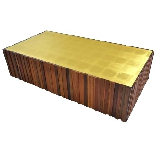 Gold Leaf Coffee Table Beautiful Gold Leaf Coffee Table Salvaged With Regard To Gold Leaf Collection Coffee Tables (Image 13 of 40)