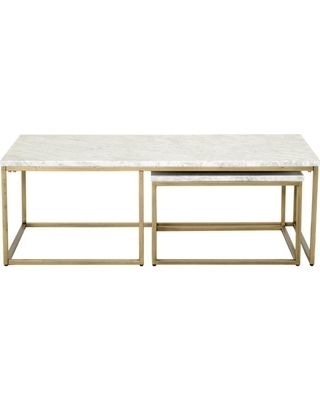 Gold Nesting Coffee Table Incredible Amazon Com We Furniture Within 2 Tone Grey And White Marble Coffee Tables (View 37 of 40)