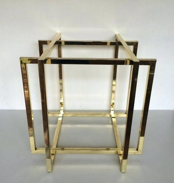 Gold Table Base Gold Metal Coffee Table Base Gold Base Table Lamp Uk For Brass Iron Cube Tables (Photo 38 of 40)