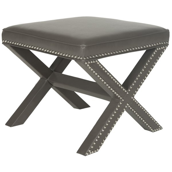 Gray Leather Ottomans – Storage, Coffee Table Etc Within Palmer Storage Cocktail Tables (Image 11 of 40)
