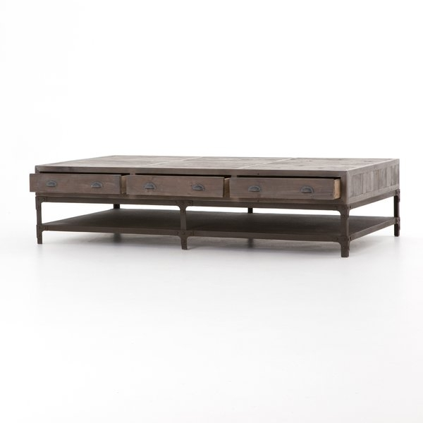 Gray Wash Coffee Table | Wayfair Inside White Wash 2 Drawer/1 Door Coffee Tables (Image 28 of 40)