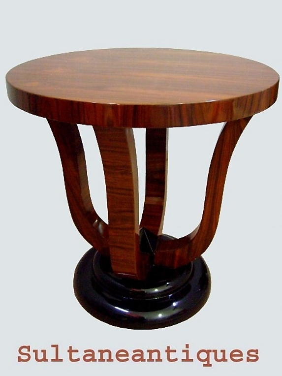 Great Art Deco Style Two Toned Rosewood Side Table For Sale For Antiqued Art Deco Coffee Tables (Photo 18 of 40)