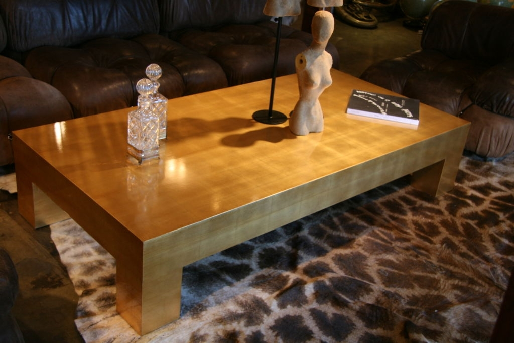 Great Gold Leaf Coffee Table Contemporary Gold Leaf Coffee Table At Regarding Gold Leaf Collection Coffee Tables (View 5 of 40)