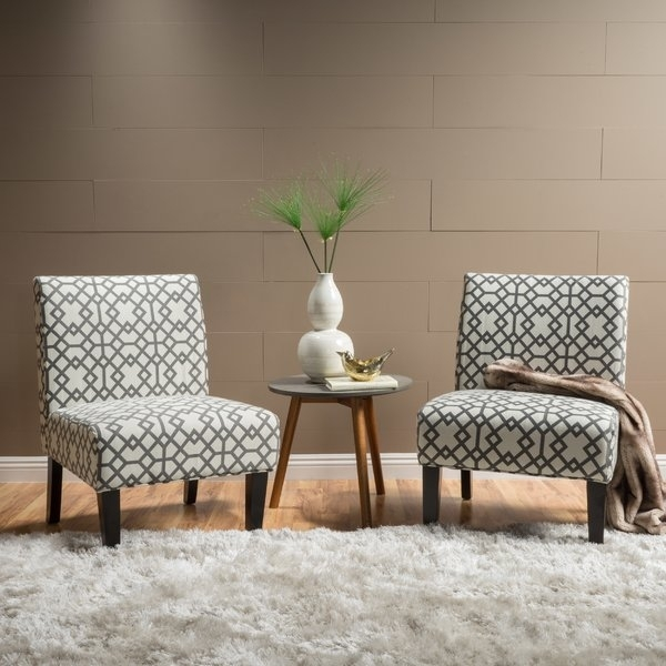 Grey Accent Chair Set Of 2 | Wayfair Regarding Moraga Barrel Coffee Tables (View 32 of 40)