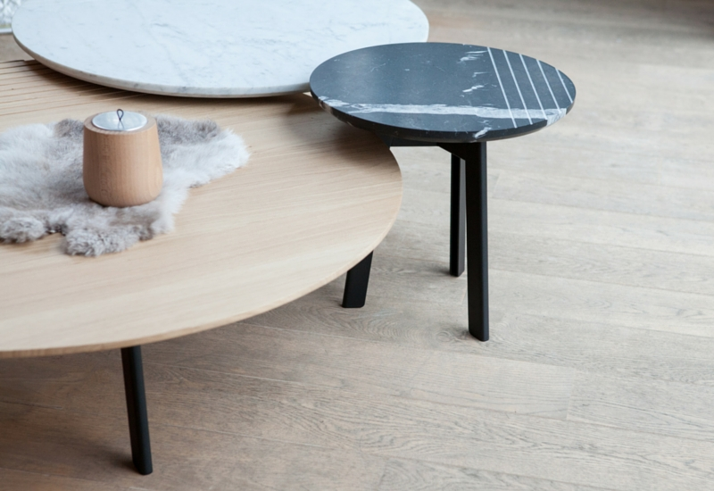 Grooves Side Table Medium Smoked Oak | Www (Image 11 of 40)