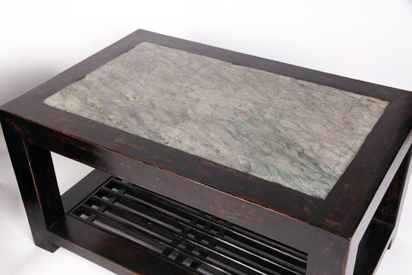 Gt Atelier Two Tier Rectangular Coffee Table With Stone Top – New Regarding Stone Top Coffee Tables (Image 15 of 40)