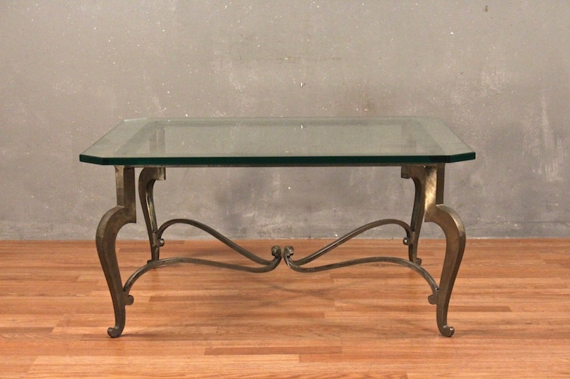 Gunmetal & Glass Scroll Leg Coffee Table – Online Only | Furnish Green Throughout Gunmetal Coffee Tables (Image 12 of 40)