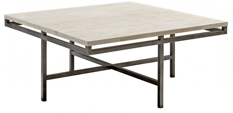 Hammary East Park Gunmetal Square Cocktail Table – East Park Throughout Gunmetal Coffee Tables (Image 17 of 40)