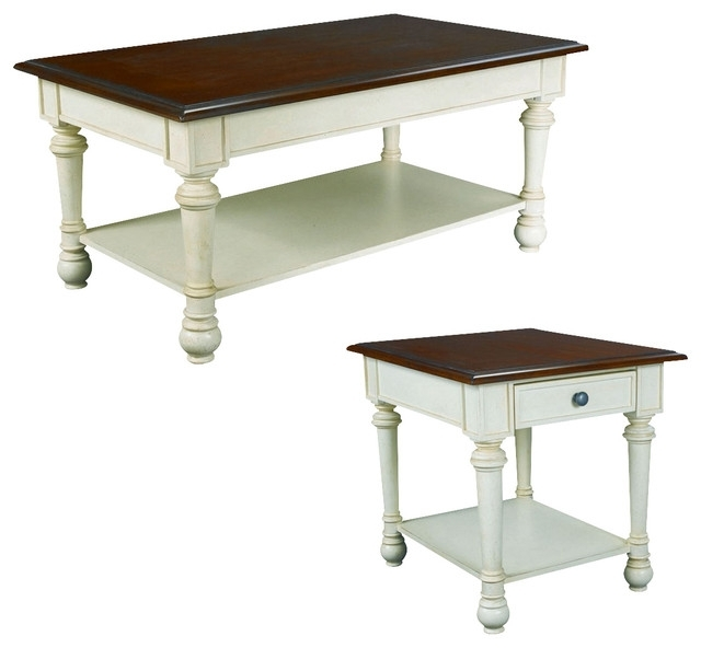 Hammary Promenade Rectangular Cocktail Table Set – Traditional Within Rectangular Barbox Coffee Tables (Image 18 of 40)
