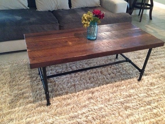 Hand Crafted 100+Year Old Reclaimed Pine Coffee Table With 3/4 For Reclaimed Pine & Iron Coffee Tables (View 7 of 40)