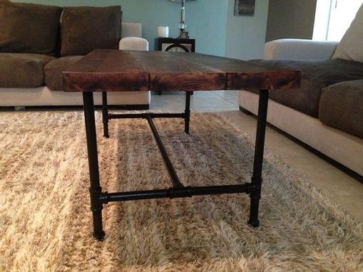 Hand Crafted 100+Year Old Reclaimed Pine Coffee Table With 3/4 With Reclaimed Pine & Iron Coffee Tables (View 38 of 40)