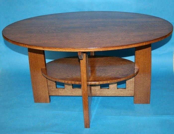 Hand Made Limbert Style Coffee Table (Arts And Crafts)Forbidden With Craftsman Cocktail Tables (Image 25 of 40)