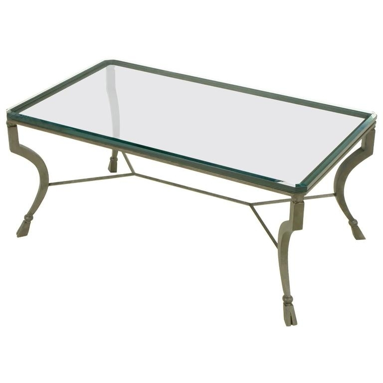 Hand Wrought Iron Stylized Hoof Foot Coffee Table In Gunmetal Grey For Gunmetal Coffee Tables (Image 18 of 40)