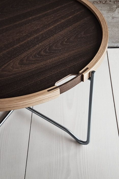 Hans J Wegner's Reversible Tray Table Updated With Smoked Oak Pertaining To Smoked Oak Side Tables (Image 12 of 40)