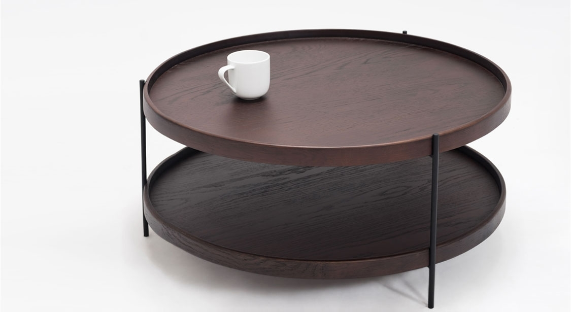 Hausful | Sage Round Coffee Table – Smoked Oak For Smoked Oak Coffee Tables (Image 13 of 40)