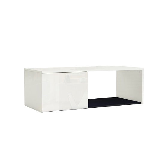 Haven Coffee Table In White With High Gloss Fronts And 1 For Haven Coffee Tables (Image 16 of 40)