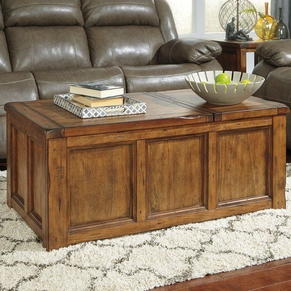 Heavy Distressing, Chiseled Edges And A Rustic Finish Lend This Lift Intended For Chiseled Edge Coffee Tables (View 17 of 40)