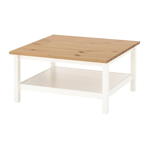 Hemnes Coffee Table White Stain/light Brown 90 X 90 Cm – Ikea Pertaining To Light Natural Coffee Tables (View 3 of 40)