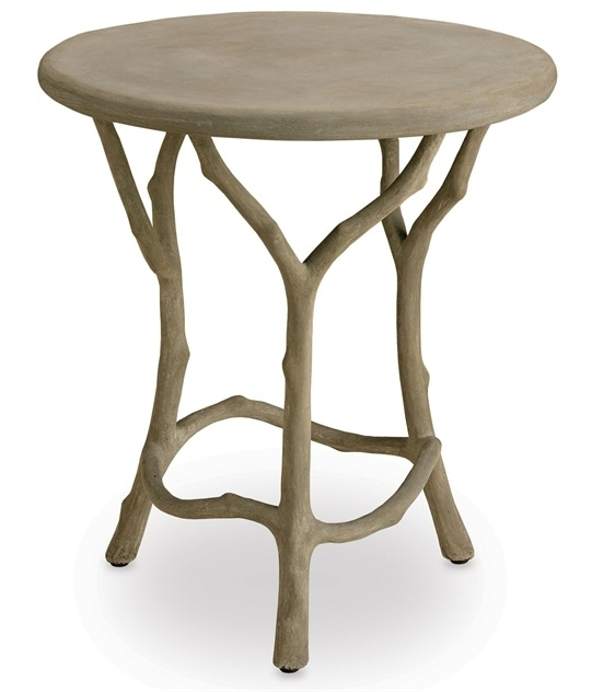 Hidcote Accent Table | Currey And Company Intended For Faux Bois Coffee Tables (View 18 of 40)