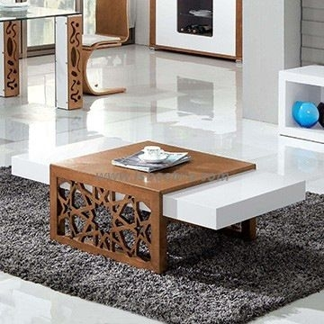High Gloss Mdf Modern Coffee Table In White Cc61 | Coffe Tables In Throughout Stack Hi Gloss Wood Coffee Tables (Image 14 of 40)