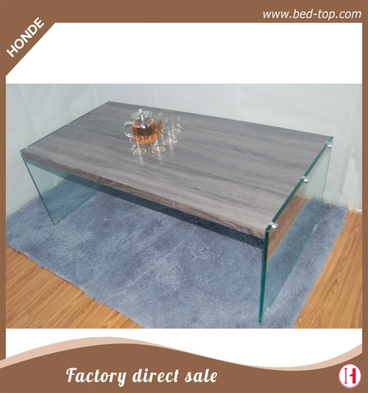 High Gloss Modern Wood Coffee Table With Glass Legs Factory Regarding Stack Hi Gloss Wood Coffee Tables (Photo 4 of 40)