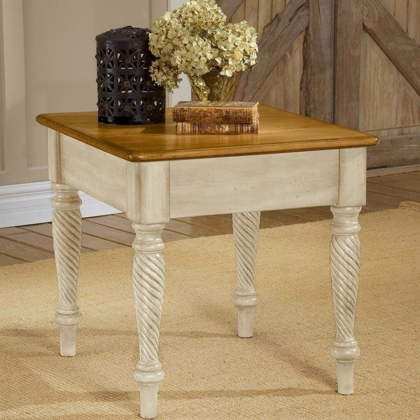 Hillsdale Furniture Wilshire Antique White End Table – Free Shipping Regarding Wilshire Cocktail Tables (Image 10 of 35)