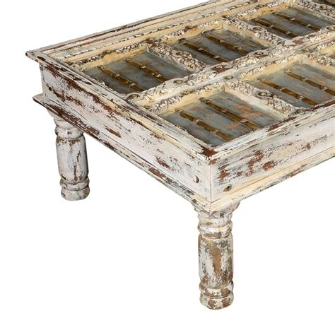 Hillsdale Wilshire Distressed Rectangular Cocktail Table, White For Wilshire Cocktail Tables (Image 14 of 35)