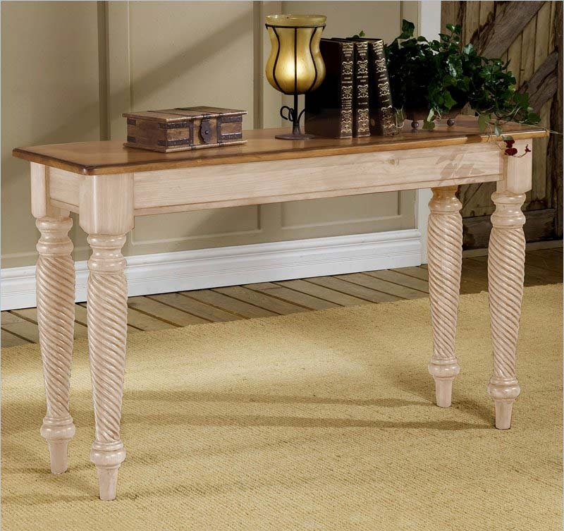 Hillsdale Wilshire Sofa Table – Antique White 4508 883 Throughout Wilshire Cocktail Tables (Image 15 of 35)