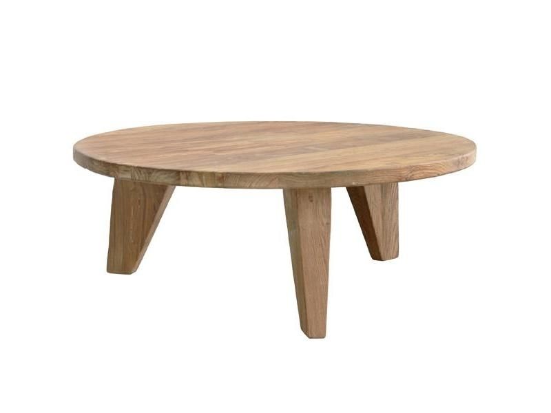 Hk Living Coffee Table Round Teak – Living And Co (Image 12 of 40)