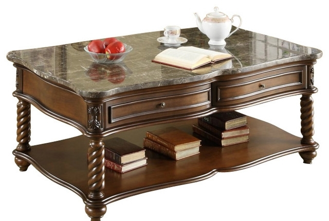 Homelegance Lockwood 3 Piece Rectangular Coffee Table Set With Inside Traditional Coffee Tables (View 30 of 40)