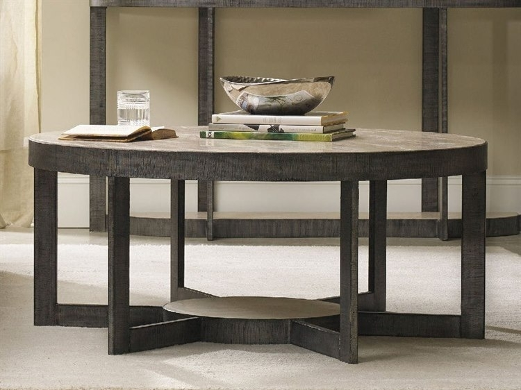 Hooker Furniture Mill Valley Gray 44'' Wide Round Cocktail Table In Mill Coffee Tables (View 9 of 40)