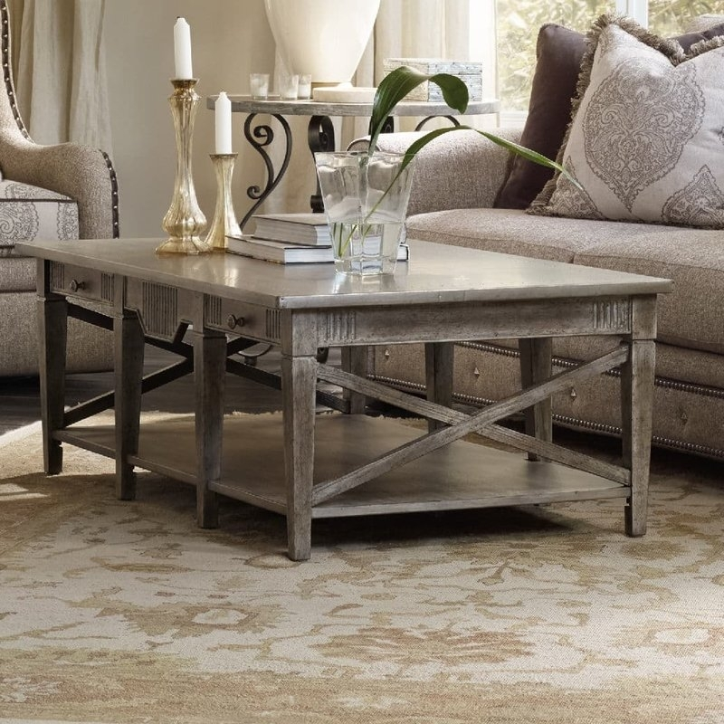 Hooker Furniture True Vintage Coffee Table With Storage | Wayfair With Vintage Wood Coffee Tables (Image 10 of 40)