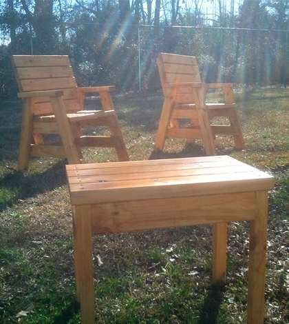 How To Build 2 Outdoor Arm Chairs And A Side Table | Jays Custom Inside Fresh Cut Side Tables (View 12 of 40)