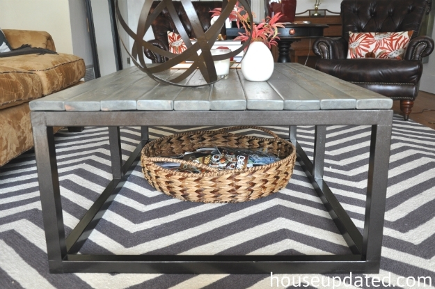How To Build A Diy Industrial Coffee Table For Only $75.24 – House With Regard To Iron Wood Coffee Tables With Wheels (Photo 36 of 40)
