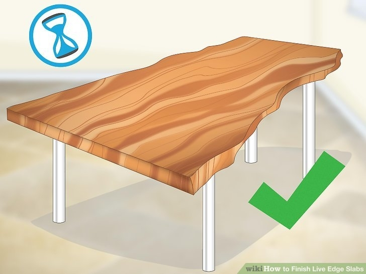 How To Finish Live Edge Slabs (With Pictures) – Wikihow Regarding Natural Wheel Coffee Tables (Image 23 of 40)