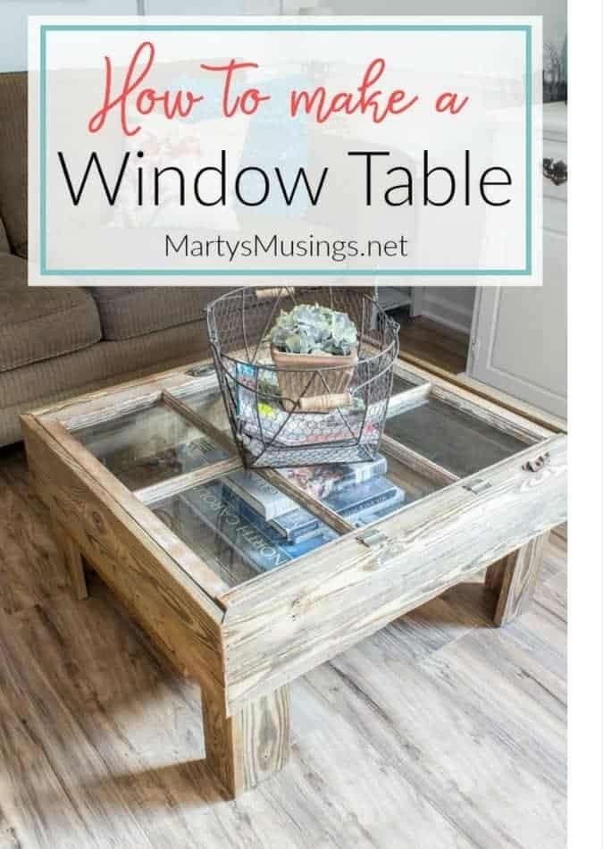 How To Make A Window Table For The Rustic Look For Natural 2 Drawer Shutter Coffee Tables (Image 26 of 40)