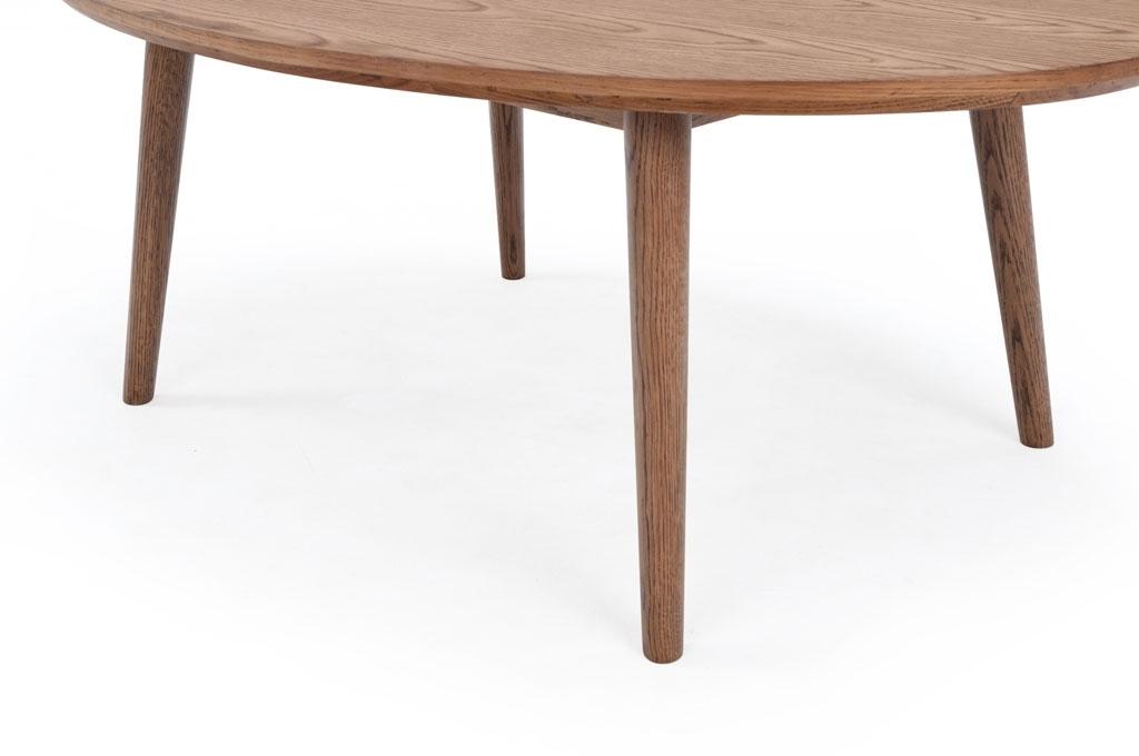 Hugo, Coffee Table, Smoked Oak Veneer Top, Oval For Smoked Oak Coffee Tables (View 6 of 40)