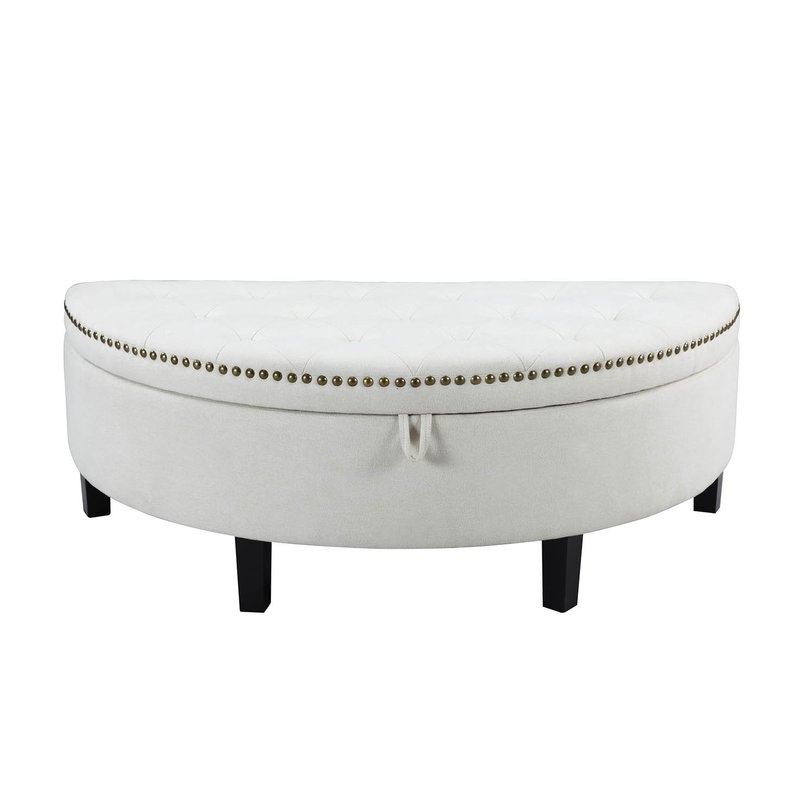 Iconic Home Jacqueline Button Tufted Storage Ottoman & Reviews | Wayfair Intended For Button Tufted Coffee Tables (View 37 of 40)